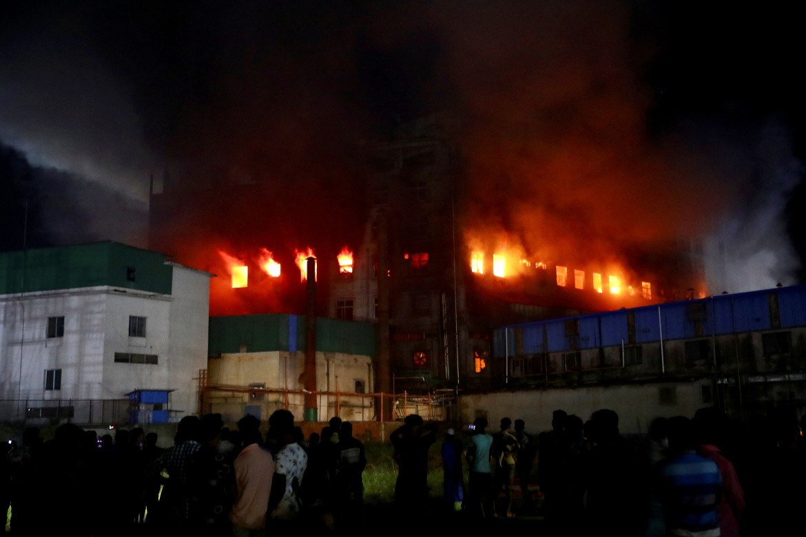 Fire at a factory named Hashem Foods Ltd. in Rupganj, outskirts of Dhaka